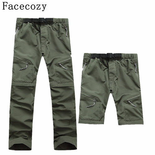 Men's Quick Dry Outdoor Pants Removable Hiking&Camping  Summer Breathable