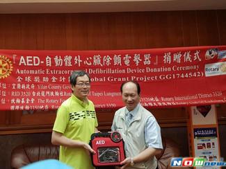 台北市龍門扶輪社捐AED給宜縣府