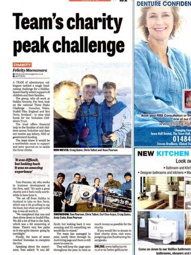 3 Peaks Challenge, Halifax Security