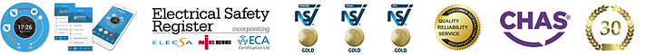 Accreditations, NSI Gold, CHAS, ELECSA