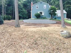 retaining wall completed simsbury, C