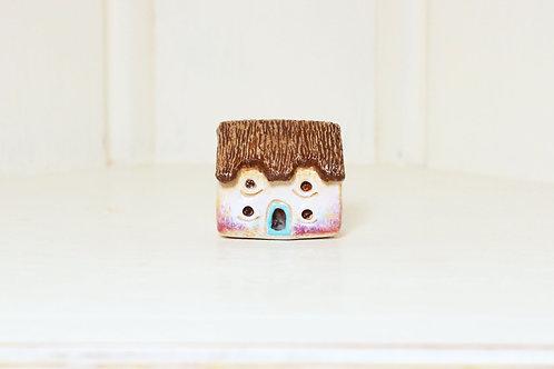 miniature house, decorative house, decorative dwelling,polymer clay house,ceramic like house,tiny house, tiny dwelling