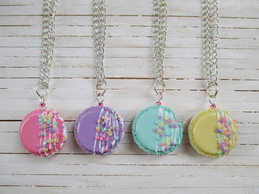 French Macaron Necklaces
