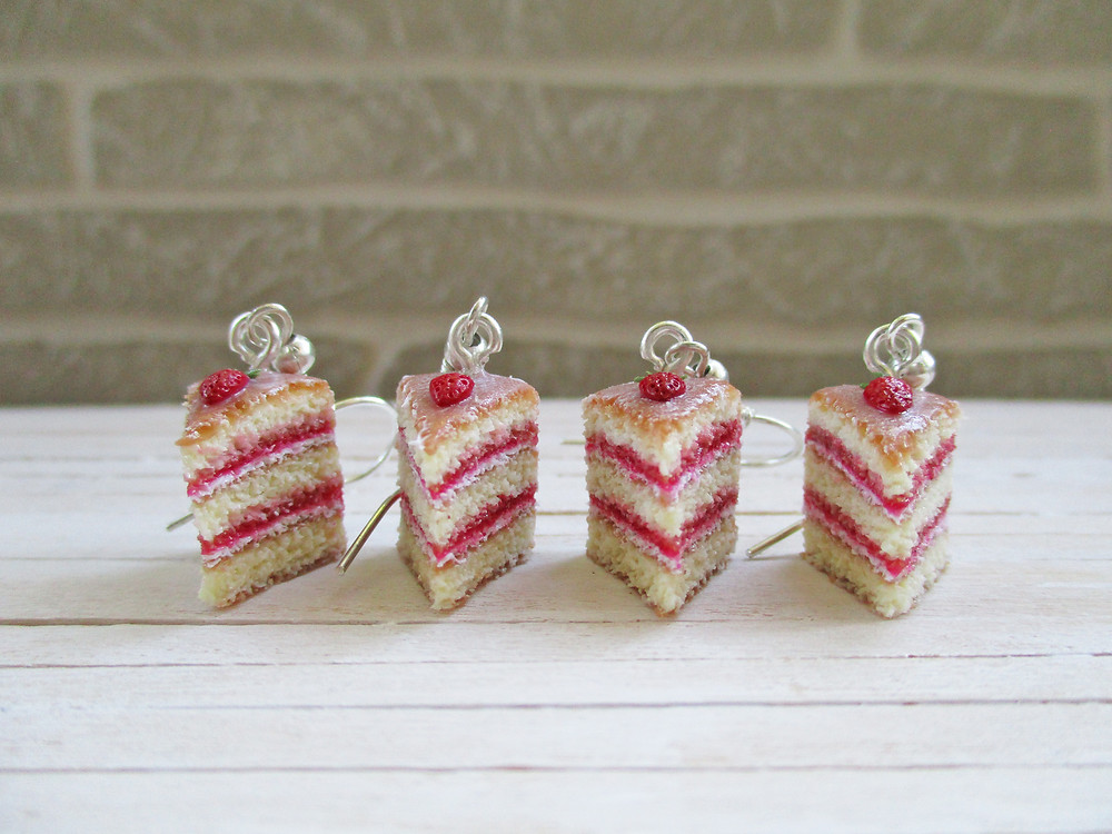 British Summer Collection: Victoria Sponge Cake Earrings