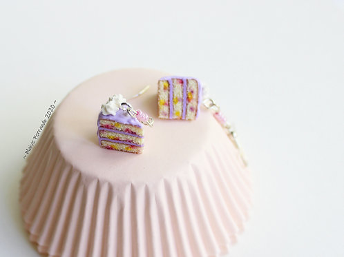 Lavender Confetti Cake Earrings