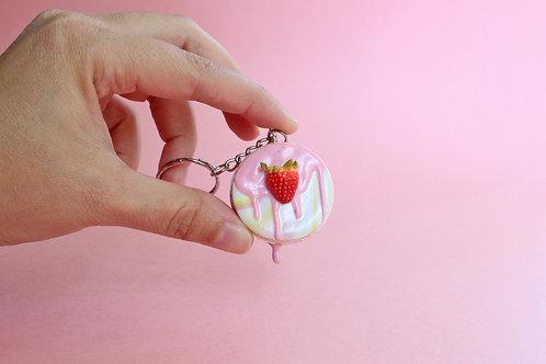 pink macaron bag charm, macaron keychain, polymer clay french macaron keyring,fimo macaron charm, macaron accessories