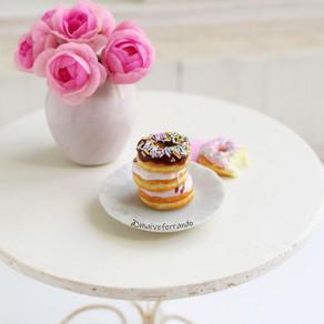 Doughnuts in Neapolitan Flavours