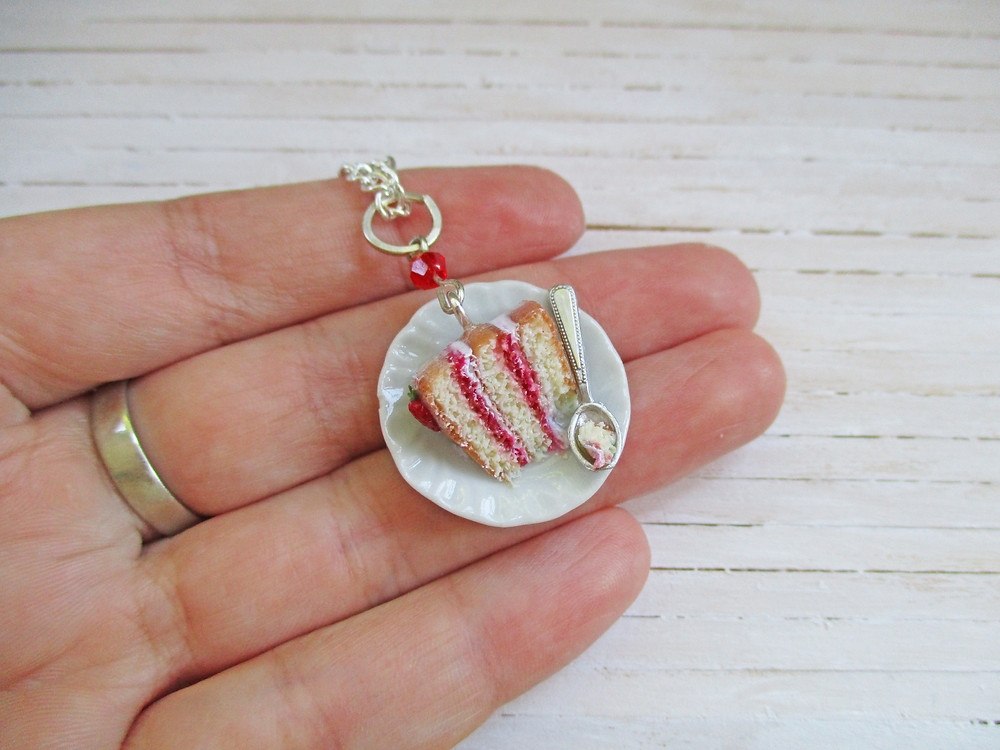 British Summer Collection: Victoria Sponge Cake Necklace