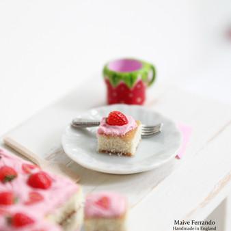 Brownies & Strawberry Tray Bake