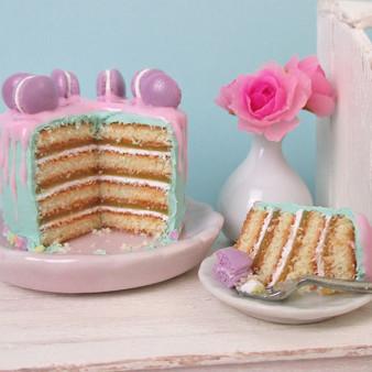 Miniature French Macaron Cake