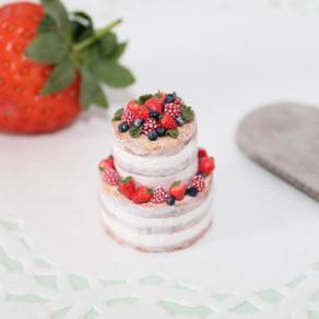 Summer Fruits Naked Wedding Cake