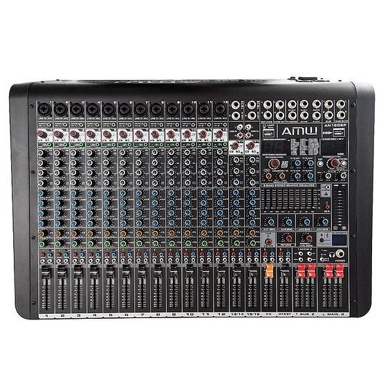 AMW AN16 DSP Mesa de Som 16 Canais 4 Aux DSP EFX