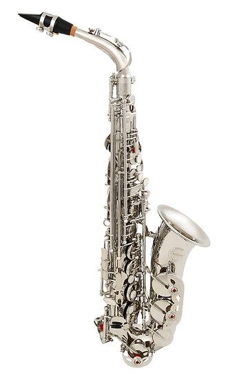 Custom Saxofone Alto Niquelado Eb Mib + Estojo + Acessórios