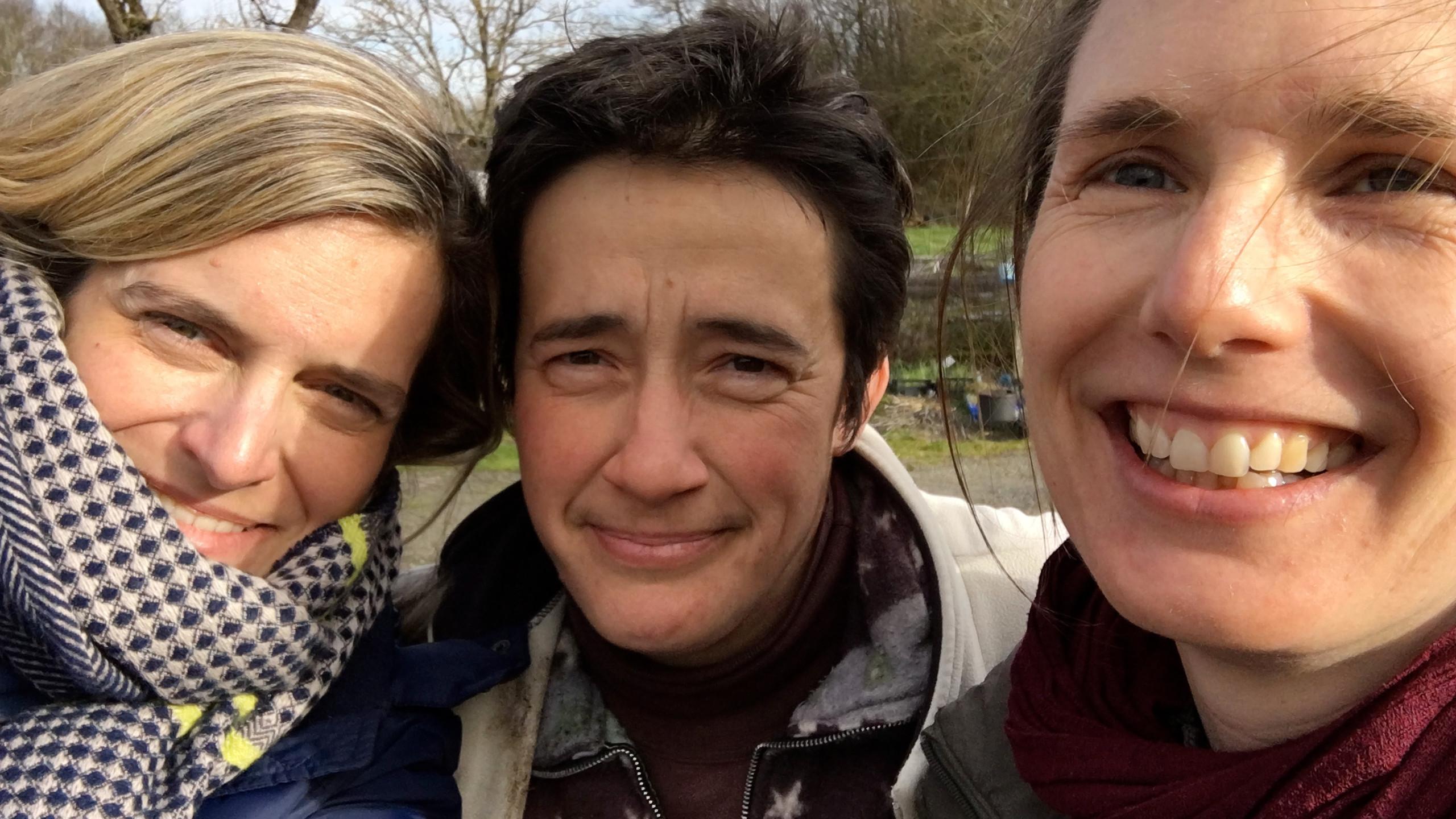 Agnès, Delphine et moi