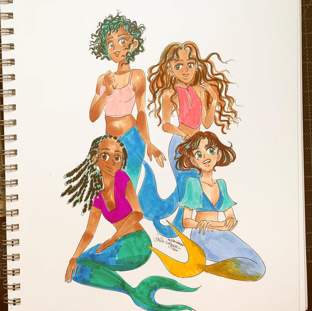 Day 22: Mermaid Sisters