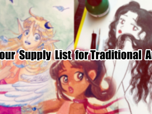 Your Supply List for Traditional Art