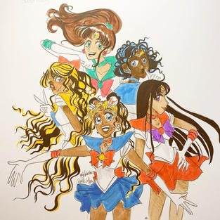 Day 31: 5 Sailor Scouts