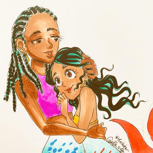 Day 10: Mermaid Mother & Daughter