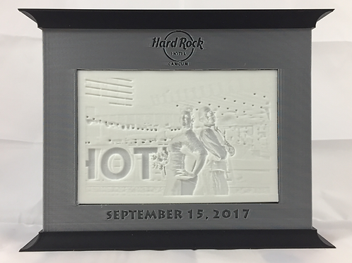Two Colour Custom Engraved Lithopane Box (Your Lithopane Included)