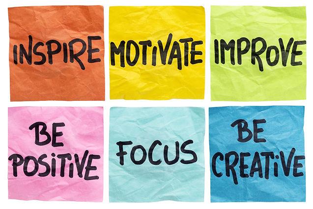 inspire, motivate, improve, be positive,