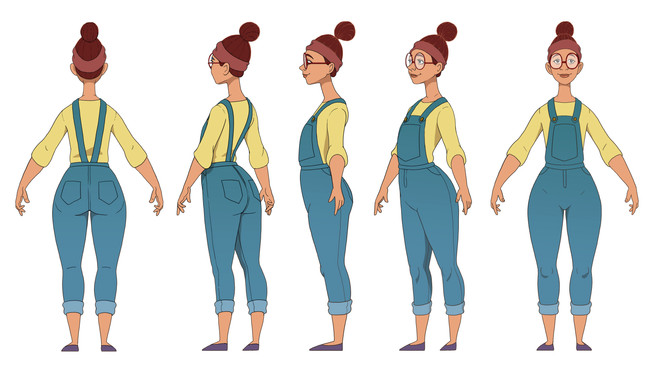 CharacterTurnaround for The Dumb Elephant's main character- Diane