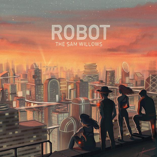 Cover Art for The Sam Willows' 2018 single, Robot, illustrated by Farhana Hossain