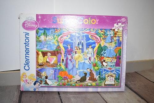 CLEMENTONI super color puzzle 2X20