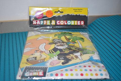 Créateur de Génie - nappe à colorier avec 4 pastels