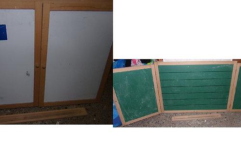 tableau porte blanc/craie