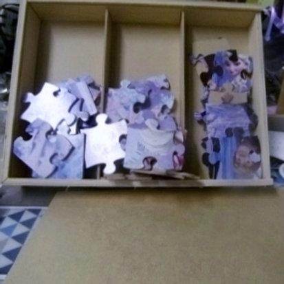 puzzle bois tiroir reine des neiges