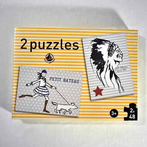 PETIT BATEAU puzzle 2X48