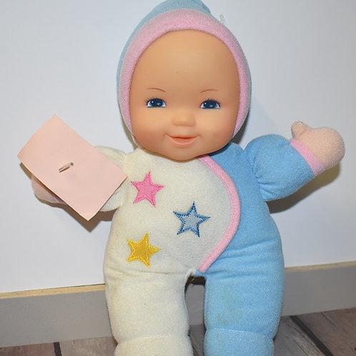 poupée chiffon tête dure 30 cm lumineux