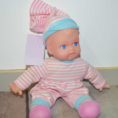poupée chiffon tête dure 25 cm