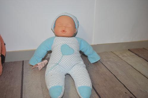 poupée chiffon tête dure 33 cm
