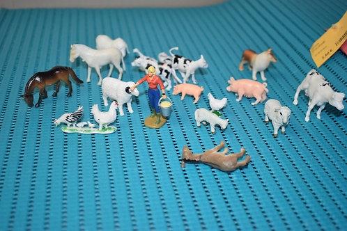 lot animaux ferme miniature