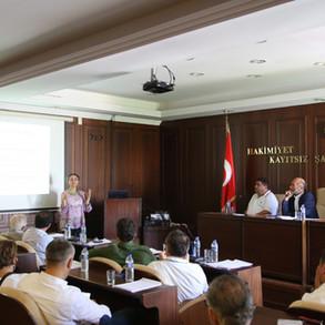 Belediye Meclisi'nde yapılan sunum