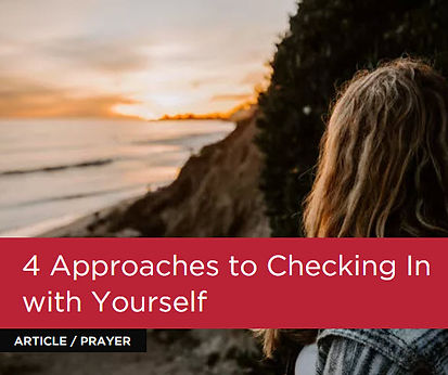 4 approaches to checking in with yoursel
