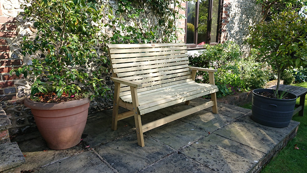 High Back | Wooden | Garden | Bench