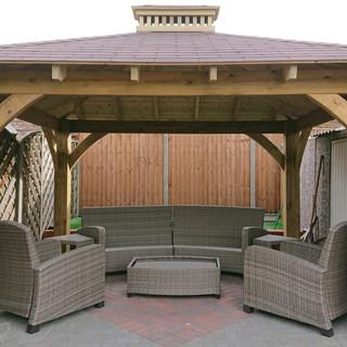 Garden-Gazebo-with-shingle-roof