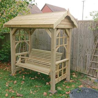 Rustic-Garden-Swinging-Bench