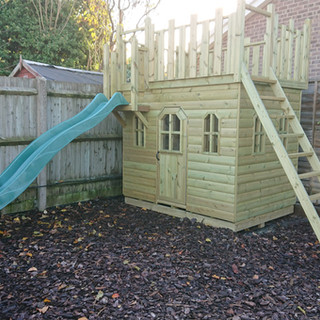 Wooden-Castle-with-Slide