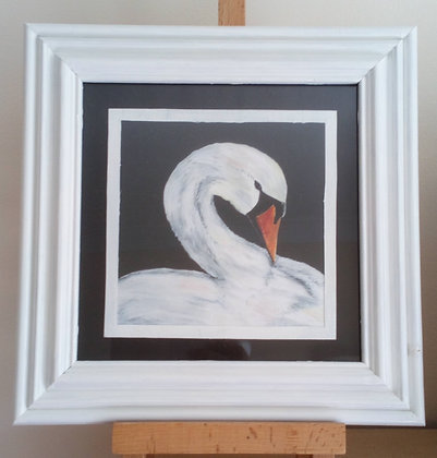 MOUNTED AND FRAMED SWANSONG PRINT