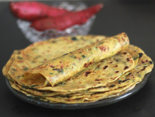 Sweet Potato & Spinach Roti