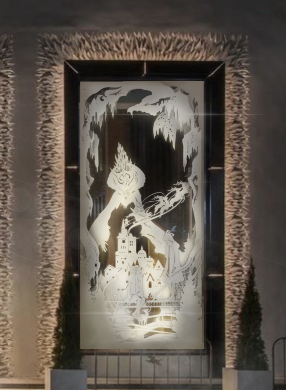 Оформление витрины ресторана