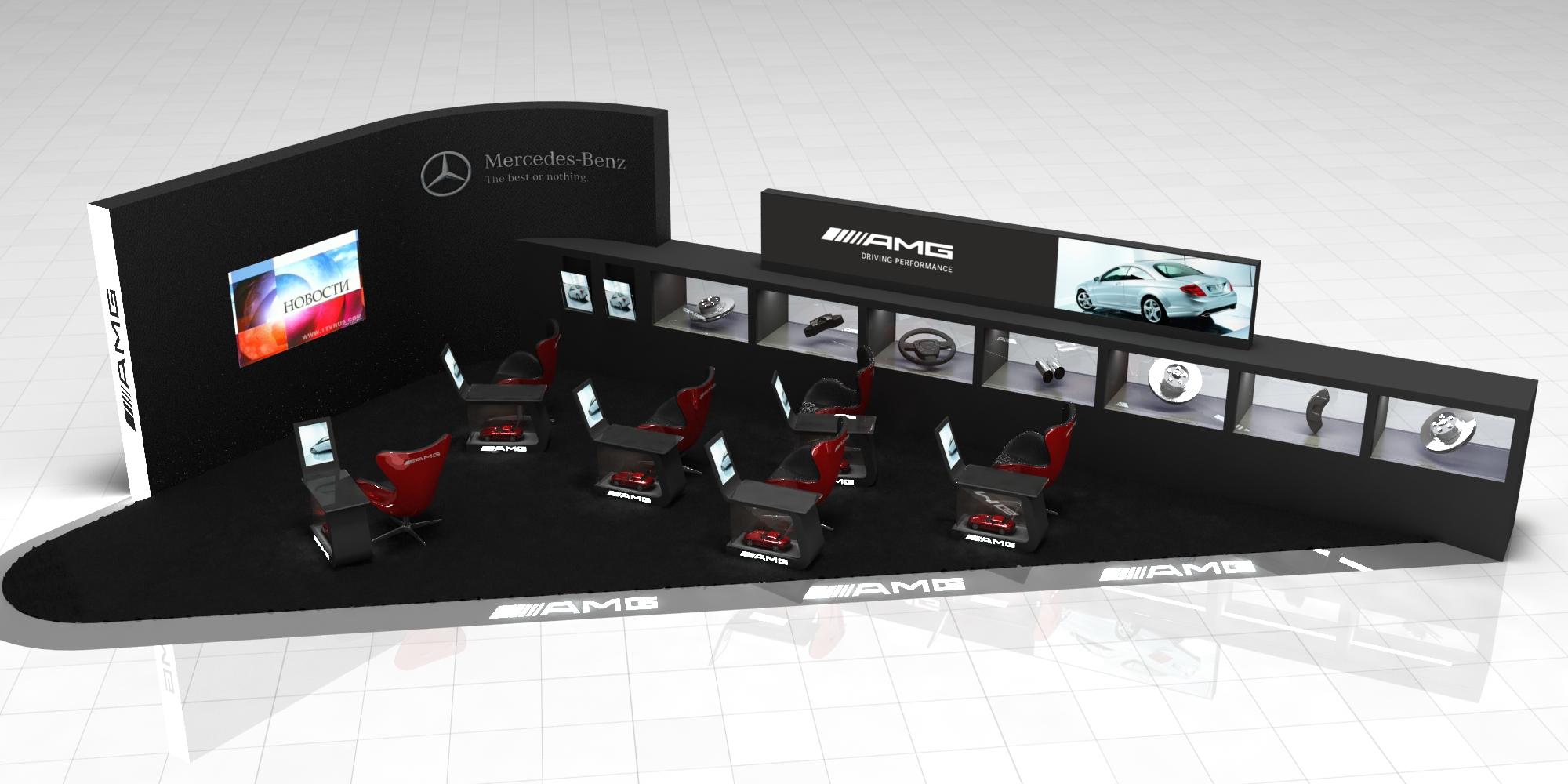 Стенд Mercedes-Benz AMG