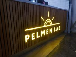 """Рекламная вывеска """"Pelmen Lab"""""""