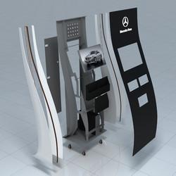 Рендер стойки для компани Мерседес-Бенц РУС - AMG