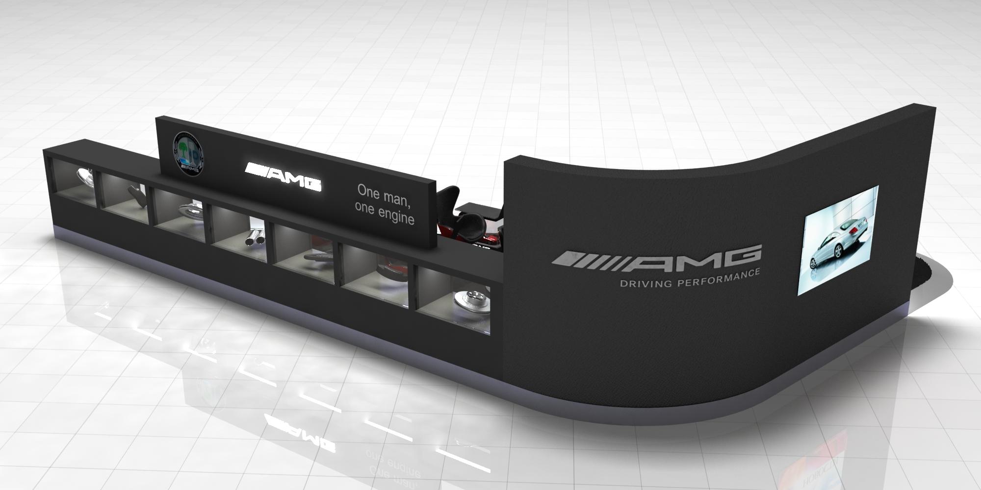 3D рендер Стенд Mercedes-Benz AMG