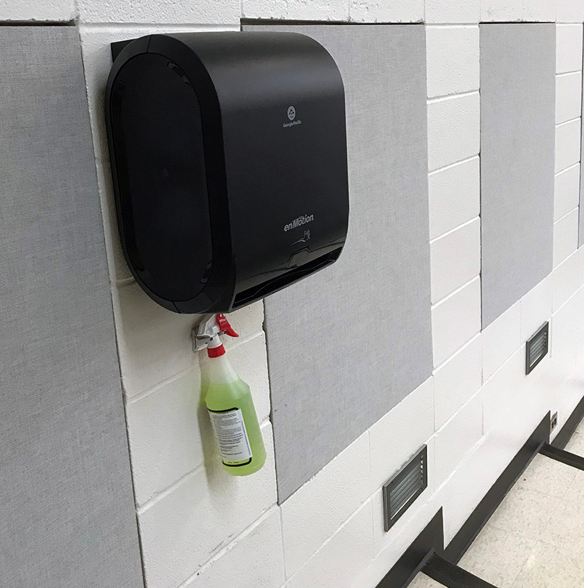 cleaner station in class room