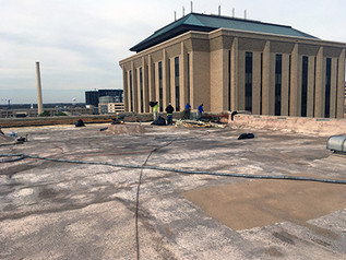 ACADEMIC BUILDING GETS NEW ROOF